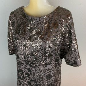 Scarlett Dress Sequins Size 8 Taupe